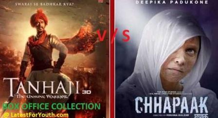 Chhapaak Vs Panga Vs TanhaJi Box Office Collection